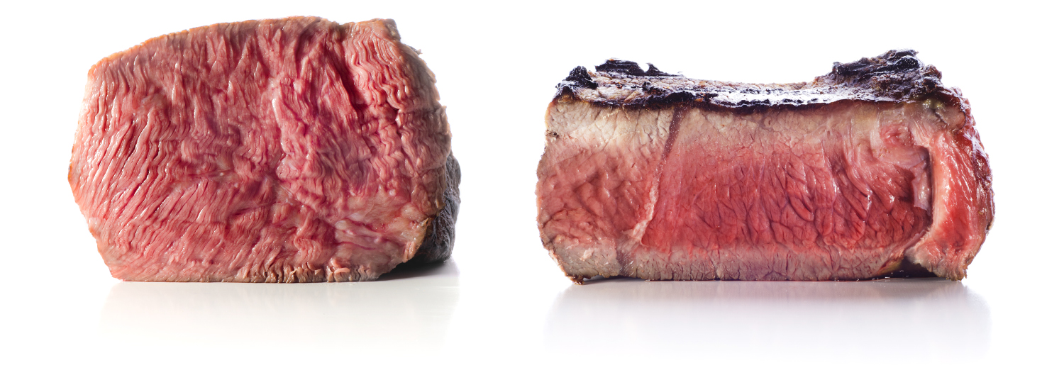 sous vide vs traditional steak