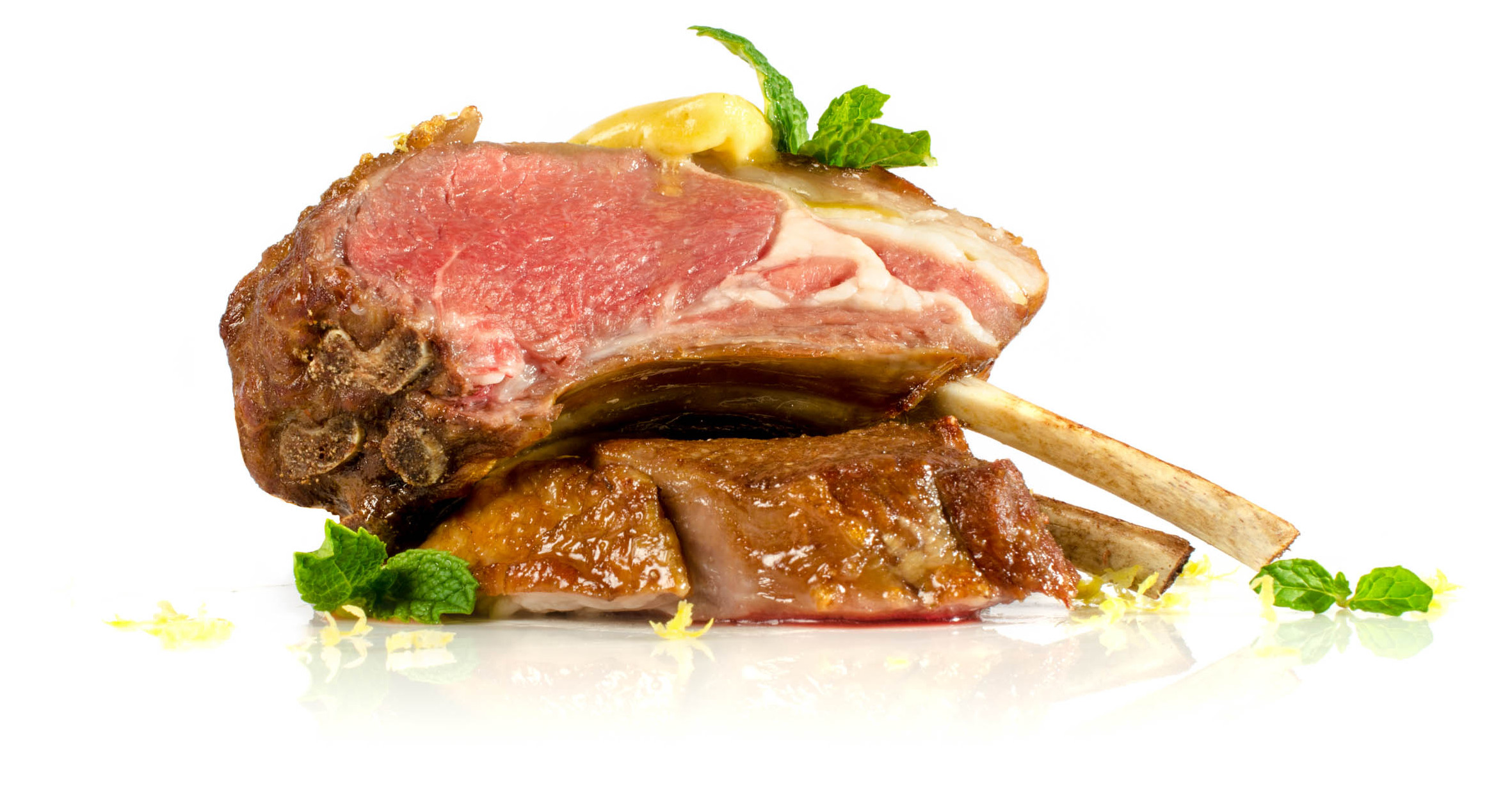 Rack of Lamb with Sous Vide Infused Mint Butter Recipe | Sansaire